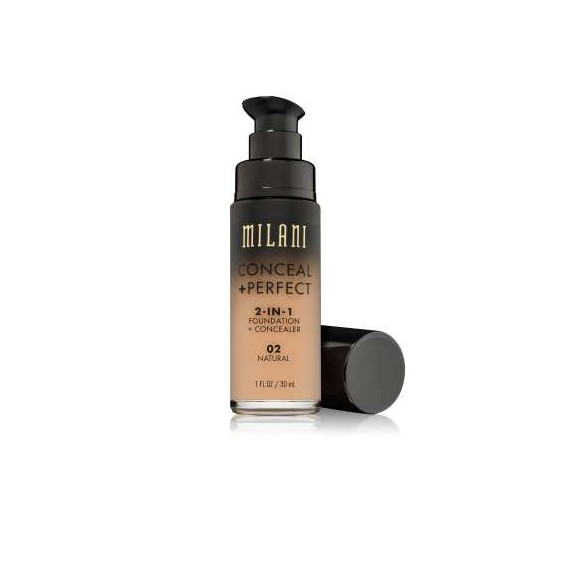CONCEAL & PERFECT 2-IN-1 LIQUID MAKE UP 02 Natural Light with Warm Yellow Undertone