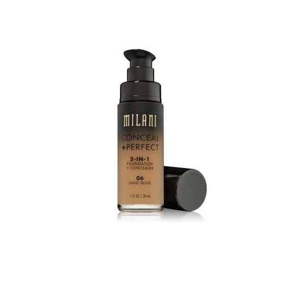 CONCEAL & PERFECT 2-IN-1 LIQUID MAKE UP 06 Sand Beige Medium with Warm Yellow Undertone